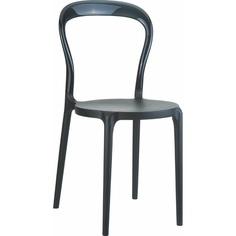 Krzesło MR BOBO czarne/czarne przezroczyste Siesta