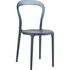 Krzesło MR BOBO ciemnoszare/szary dymione przezroczyste Siesta