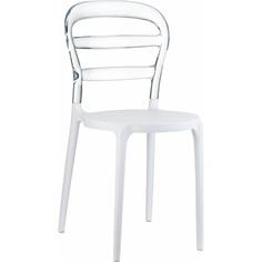 Krzesło MISS BIBI białe/przezroczyste Siesta