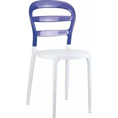 Krzesło MISS BIBI białe/fioletowe przezroczyste Siesta