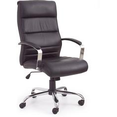 Fotel gabinetowy TEKSAS czarny skóra Halmar