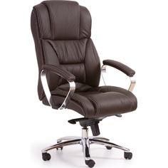 Fotel gabinetowy FOSTER ciemno brązowy skóra Halmar