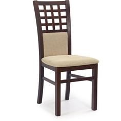 Drewniane krzesło tapicerowane GERARD3 ciemny orzech Halmar