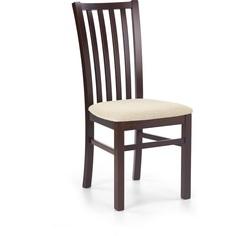 Drewniane krzesło tapicerowane GERARD7 ciemny orzech Halmar