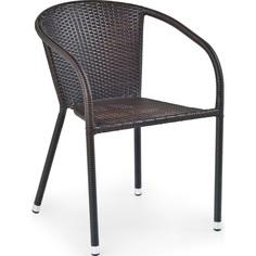 Krzesło z podłokietnikami MIDAS ciemno brązowe Halmar