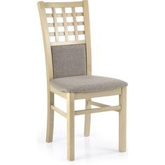 Drewniane krzesło tapicerowane GERARD3 dąb sonoma Halmar