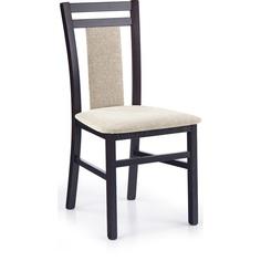 Drewniane krzesło tapicerowane HUBERT8 beż/wenge Halmar