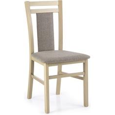 Drewniane krzesło tapicerowane HUBERT8 dąb sonoma Halmar
