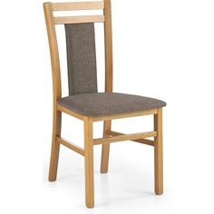 Drewniane krzesło tapicerowane HUBERT8 olcha Halmar