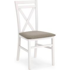 Drewniane krzesło tapicerowane DARIUSZ białe / Inari 23 Halmar