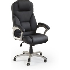 Fotel gabinetowy DESMOND czarny Halmar