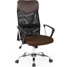 Fotel pracowniczy VIRE brązowy Halmar