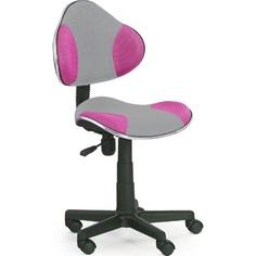 Fotel młodzieżowy FLASH 2 szaro-różowy Halmar