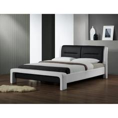 Łóżko CASSANDRA 160 biało-czarny Halmar