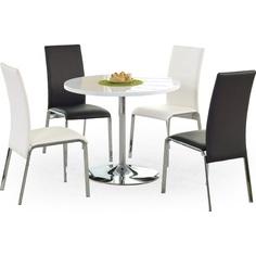Okrągły stół OMAR biały 90 Halmar