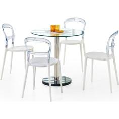 Szklany stół CYRYL bezbarwny 80 Halmar