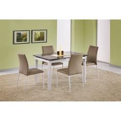 Szklany stół ALSTON beżowy/biały 120 Halmar