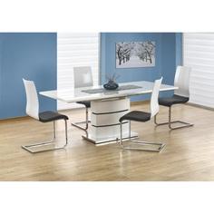 Stół rozkładany NOBEL biały 160 Halmar