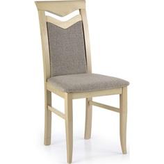Drewniane krzesło tapicerowane CITRONE dąb sonoma Halmar
