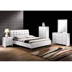 SAMARA łóżko białe Halmar